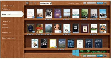 Скриншот программы Bookshelf для Windows 10