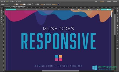 Скриншот программы Adobe Muse для Windows 10