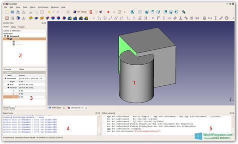 Скриншот программы FreeCAD для Windows 10