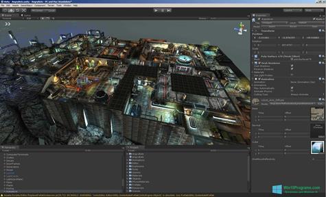 Скриншот программы Unity 3D для Windows 10