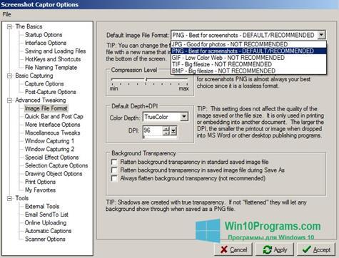 Скриншот программы Screenshot Captor для Windows 10