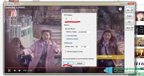 Скриншот программы GifCam для Windows 10