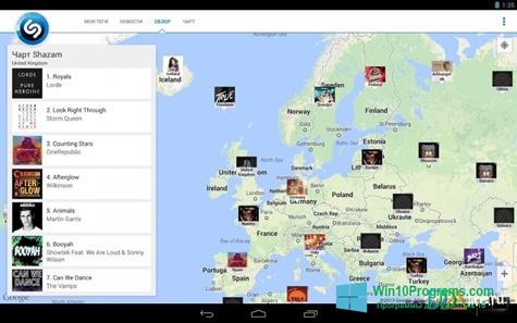 Скриншот программы Shazam для Windows 10