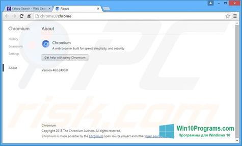 Скриншот программы Chromium для Windows 10