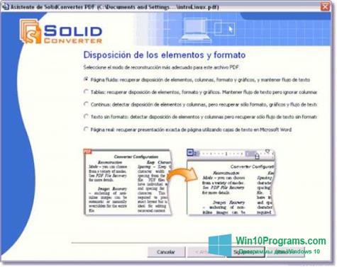 Скриншот программы Solid Converter PDF для Windows 10