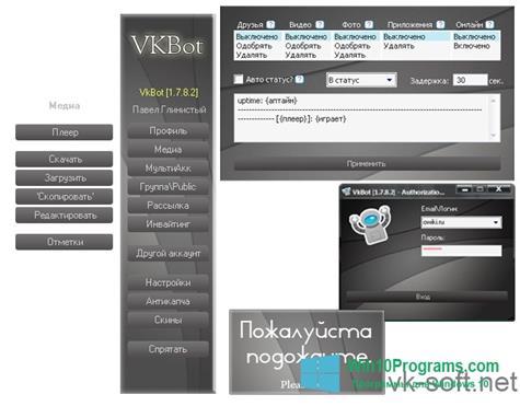 Скриншот программы VkBot для Windows 10