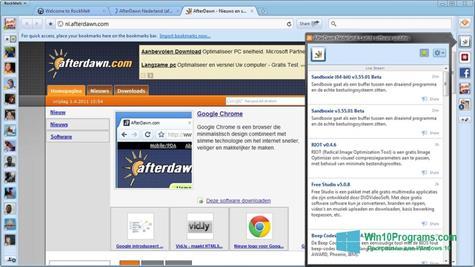 Скриншот программы RockMelt для Windows 10