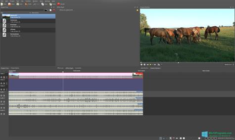 Скриншот программы Kdenlive для Windows 10