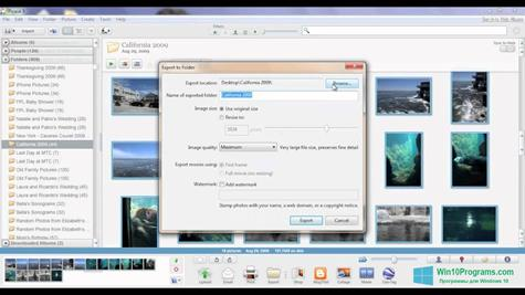 Скриншот программы Picasa для Windows 10