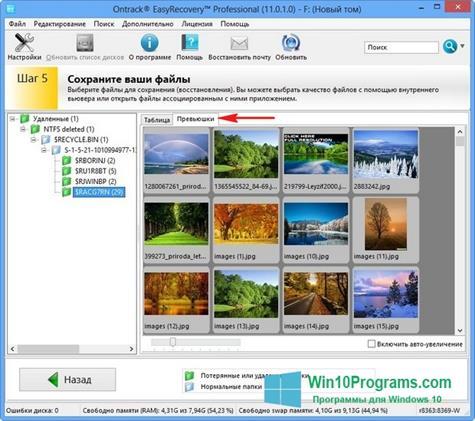 Скриншот программы EasyRecovery Professional для Windows 10