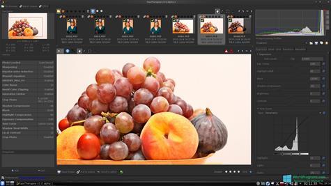 Скриншот программы RAWTherapee для Windows 10