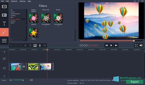 Скриншот программы Movavi Video Suite для Windows 10