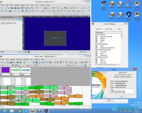 Скриншот программы OptiTex для Windows 10