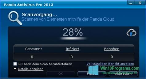 Скриншот программы Panda Antivirus Pro для Windows 10