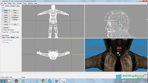 Скриншот программы MilkShape 3D для Windows 10