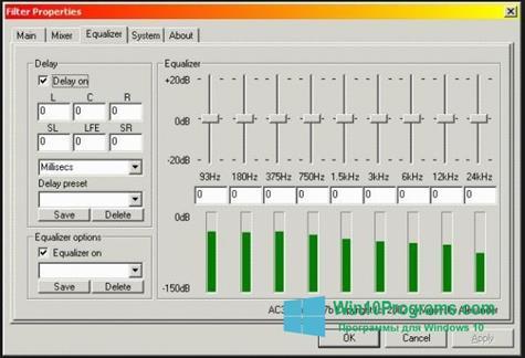 Скриншот программы AC3 Codec для Windows 10