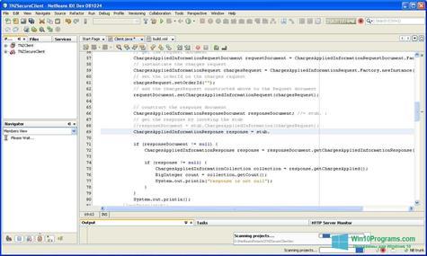Скриншот программы NetBeans для Windows 10