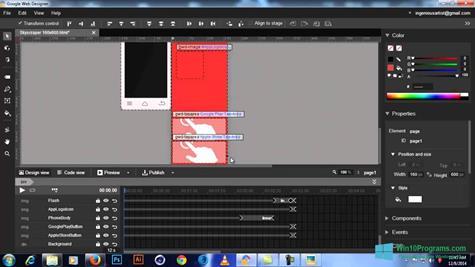 Скриншот программы Google Web Designer для Windows 10