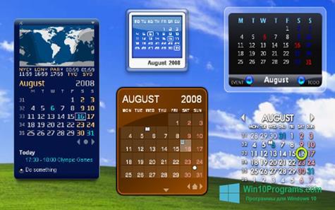 Скриншот программы Rainlendar Lite для Windows 10