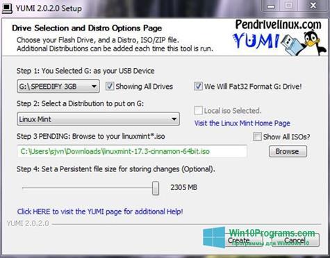 Скриншот программы YUMI для Windows 10