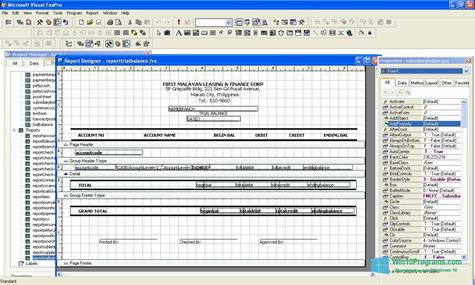 Скриншот программы Microsoft Visual FoxPro для Windows 10