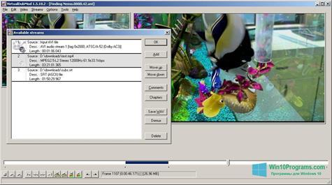 Скриншот программы VirtualDubMod для Windows 10
