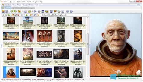 Скриншот программы XnView для Windows 10