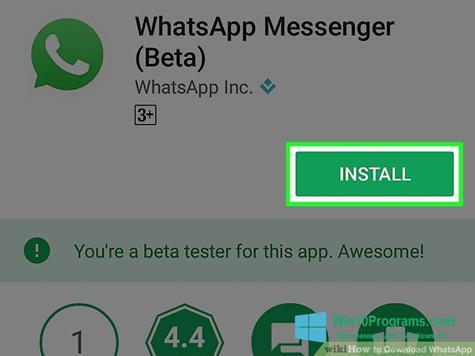 Скриншот программы WhatsApp для Windows 10