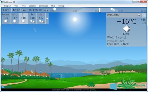 Скриншот программы YoWindow для Windows 10