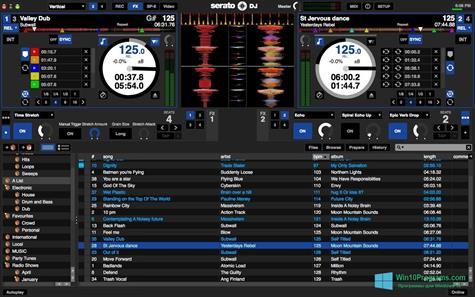 Скриншот программы Serato DJ для Windows 10