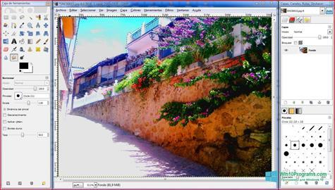Скриншот программы Gimp для Windows 10