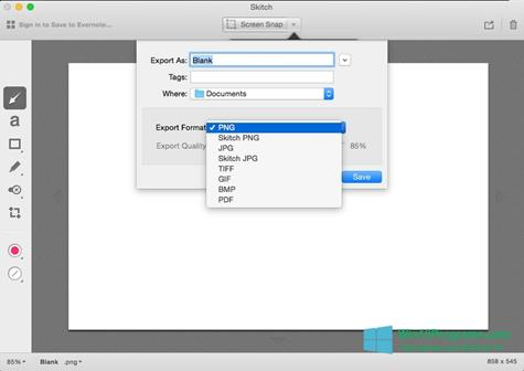 Скриншот программы Skitch для Windows 10