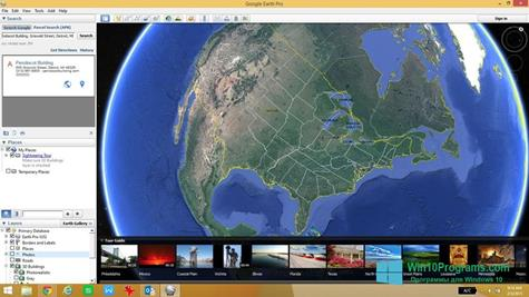 Скриншот программы Google Earth Pro для Windows 10