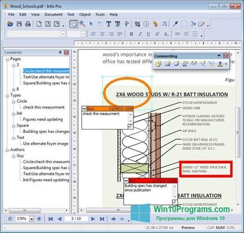 Скриншот программы Infix PDF Editor для Windows 10