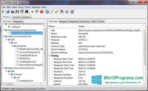 Скриншот программы Charles для Windows 10
