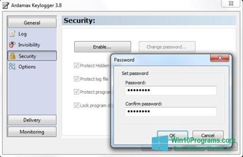 Скриншот программы Ardamax Keylogger для Windows 10