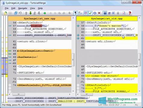 Скриншот программы TortoiseSVN для Windows 10