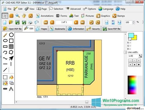 Скриншот программы PDF Reader для Windows 10