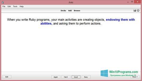 Скриншот программы Anki для Windows 10