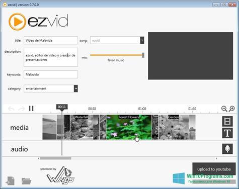 Скриншот программы Ezvid для Windows 10