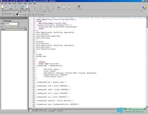 Скриншот программы KompoZer для Windows 10