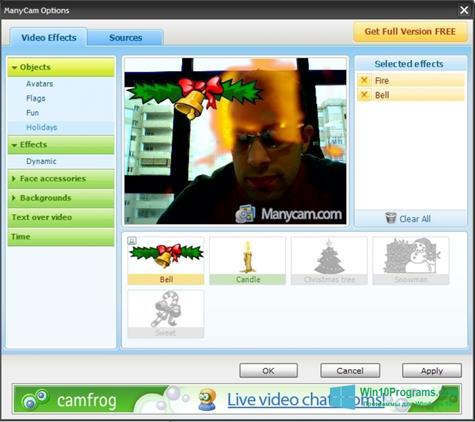 Скриншот программы ManyCam для Windows 10