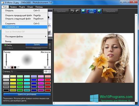 Скриншот программы PhotoInstrument для Windows 10