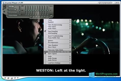 Скриншот программы Crystal Player для Windows 10