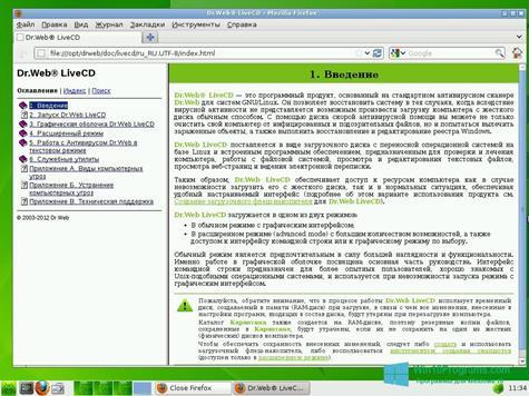 Скриншот программы Dr.Web LiveCD для Windows 10