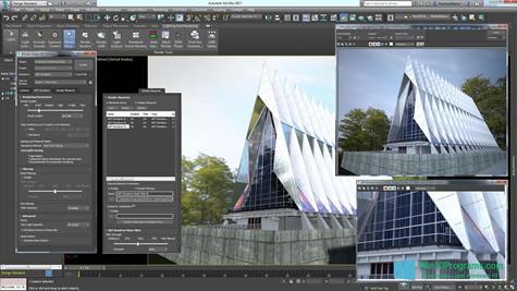 Скриншот программы 3ds Max для Windows 10