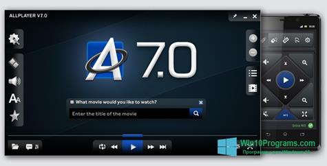 Скриншот программы ALLPlayer для Windows 10