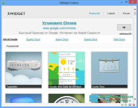 Скриншот программы XWidget для Windows 10