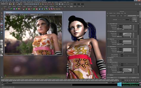 Скриншот программы Autodesk Maya для Windows 10