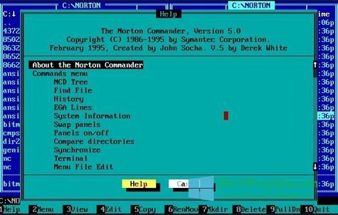 Скриншот программы Norton Commander для Windows 10